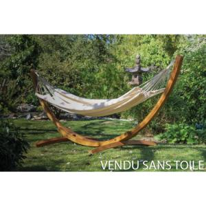 Support Hamac ARC NATUREL mélèze FSC 310x120x120 cm charge maxi 150kg