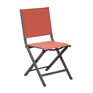 CHAISE THEMA PLIANTE CAFE/PAPRIKA
