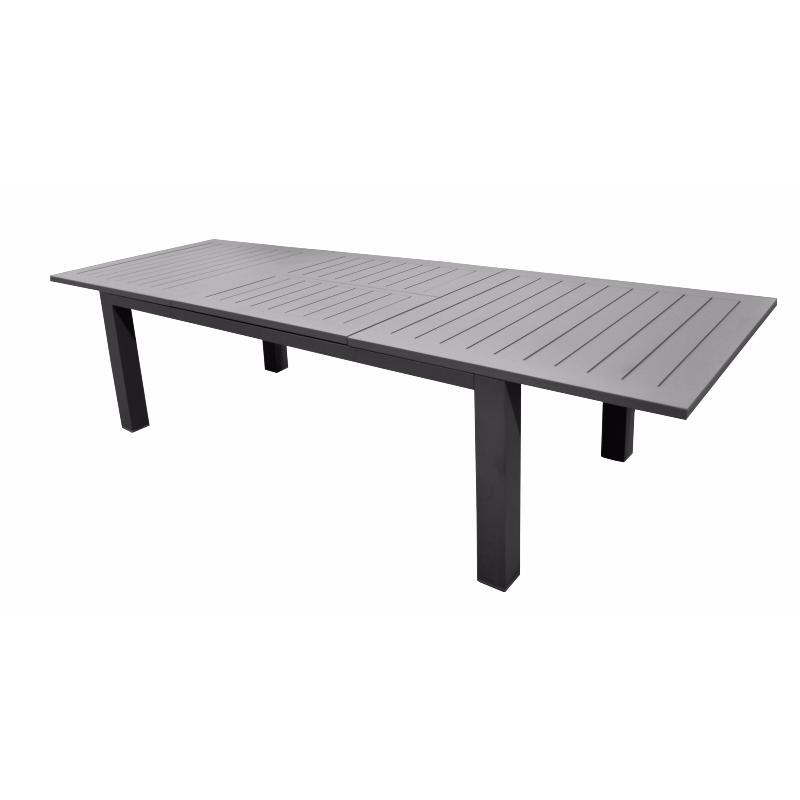 Table agathe 233 330 grey grey Table de jardin aluminium en solde