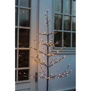 Arbre decoratif lumineux alex 120 cm 160 leds coloris brun for Arbre decoratif interieur