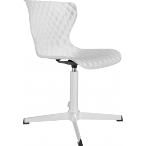 Chaise design CROW pied & assise coloris blanc