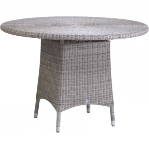 Table de jardin Cigale ronde diam. 110 cm coloris galet - Kok