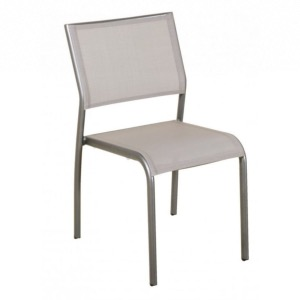 Chaise empilable TICAO muscade/lin muscade