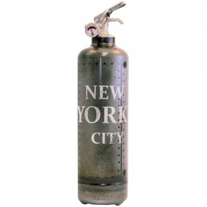 Extincteur design métal NY City brut - FIRE DESIGN