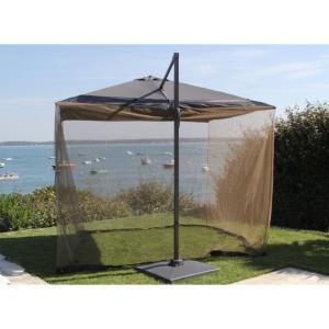 moustiquaire pour parasol 3x3 en t ryl ne avec zip montage facile. Black Bedroom Furniture Sets. Home Design Ideas