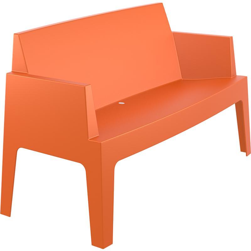 banc canape box empilable orange. Black Bedroom Furniture Sets. Home Design Ideas