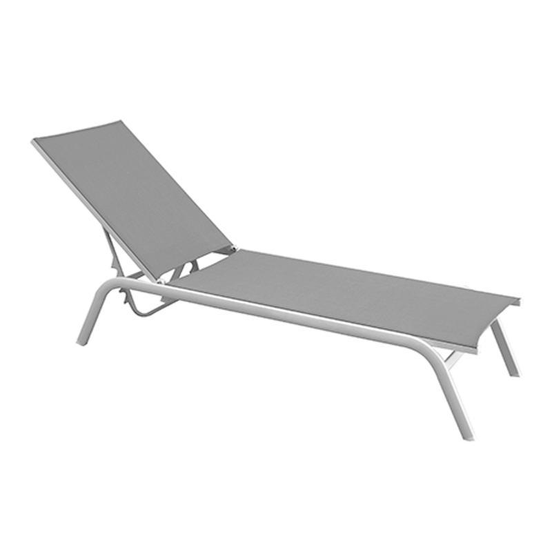 lit de soleil june blanc gris clair. Black Bedroom Furniture Sets. Home Design Ideas