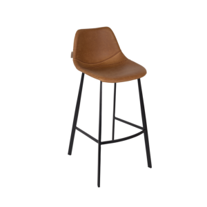 Tabouret de bar FRANKY h80 cm brown - Dutchbone