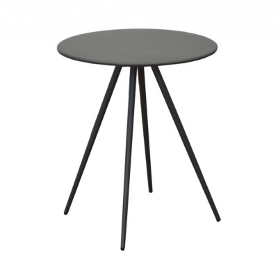 Table basse ECHO en acier cataphorese couleur gris diam 45xh52cm