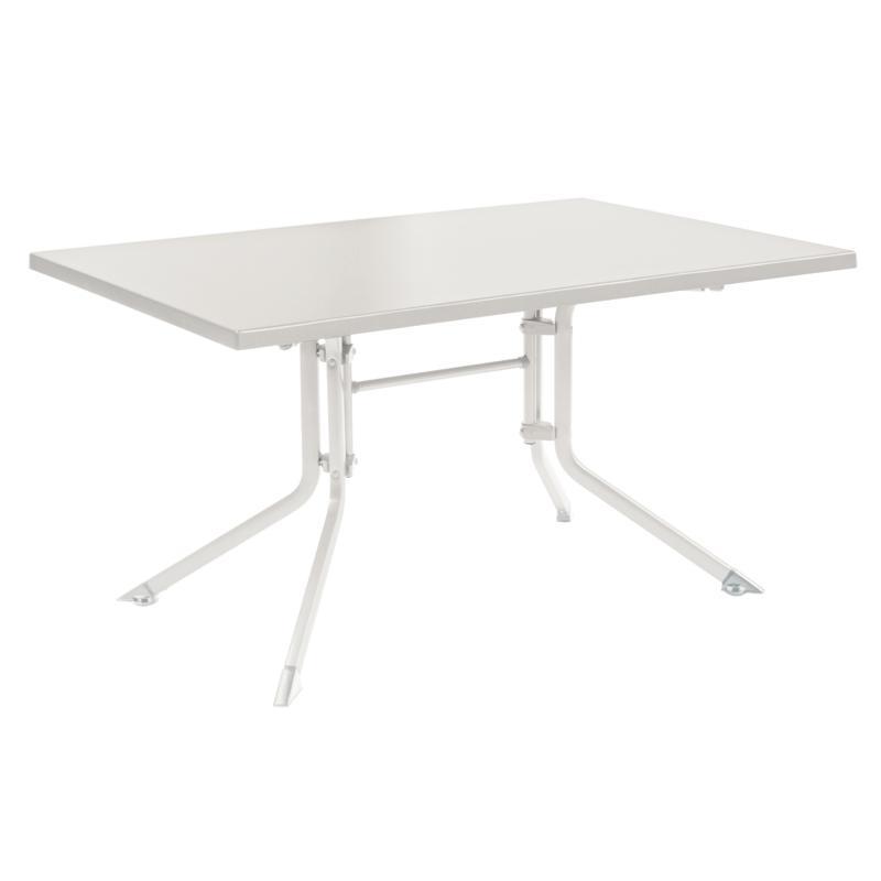 Table kettalux 160x95 blanc blanc - Table jardin blanc versailles ...