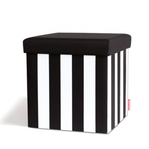 "Sitting box ""Black & White"" - 38 x 38 x 38 cm - Remember"