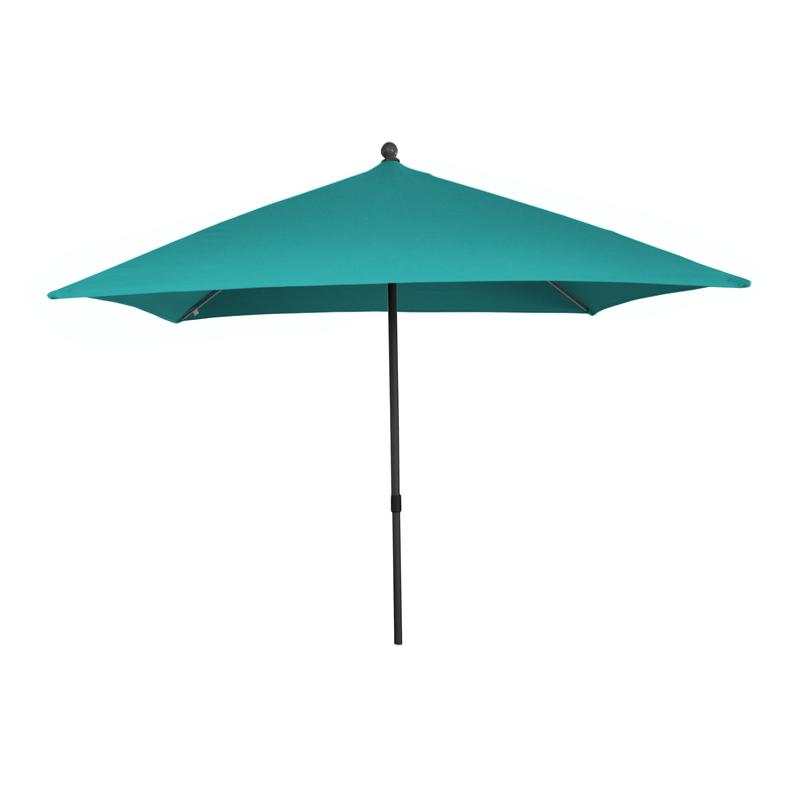 parasol push up 210x245cm aluminiun gris toile polyester bleue. Black Bedroom Furniture Sets. Home Design Ideas