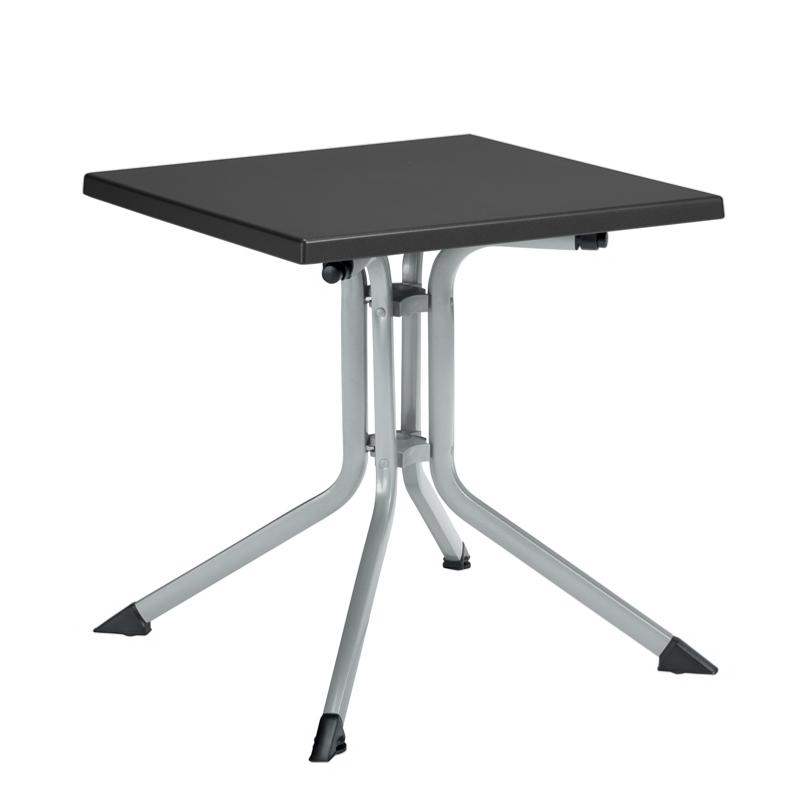 Table kettalux 70x70 argent anthracite for Table exterieur 70x70