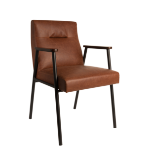 Fauteuil FEZ look 50's coloris brown - Dutchbone