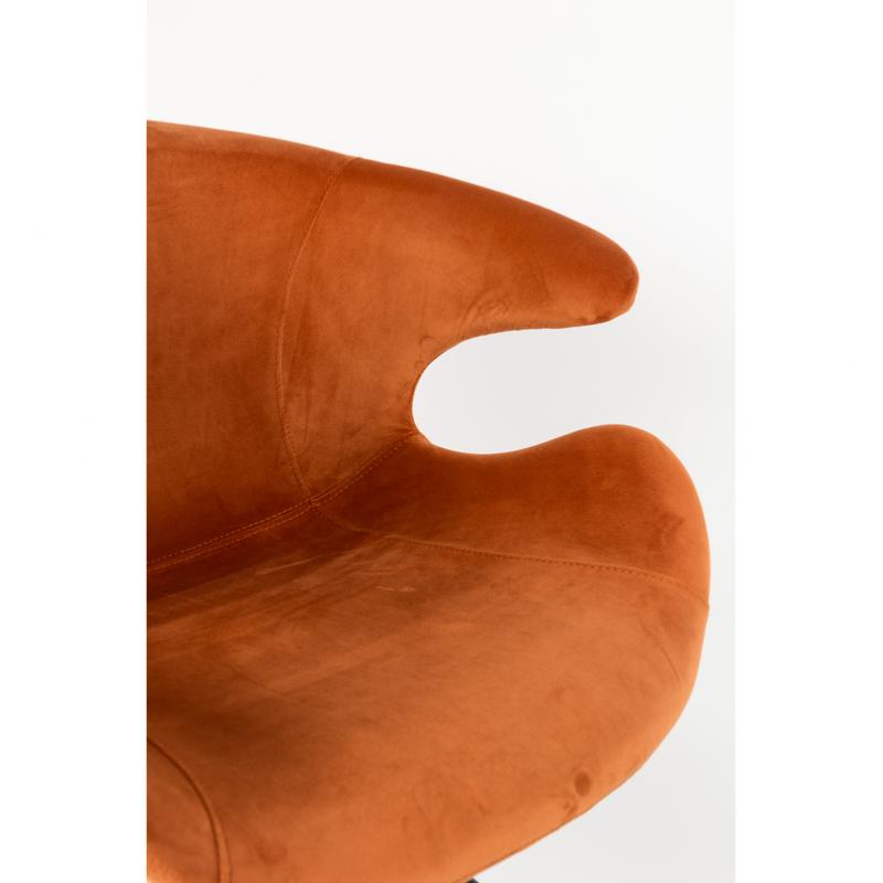 MIA Orange ZUIVER - Fauteuil orange