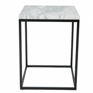 Table d'appoint carrée Marble Power - Dutchbone