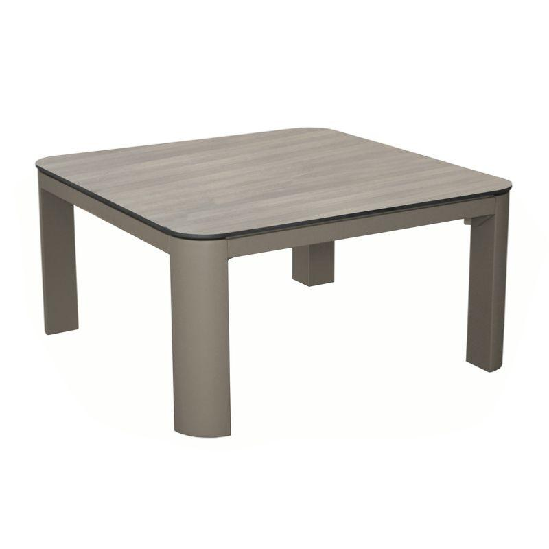 Cafe Jardin Decorative Mat: Table Basse Eole 80X80 Châssis Alu époxy CAFE Plateau