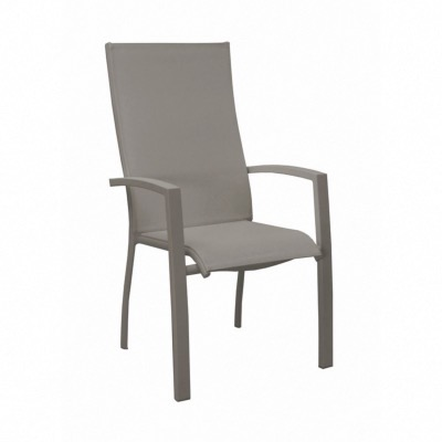 FAUTEUIL ELEGANCE HAUT TAUPE/TAUPE OCEO