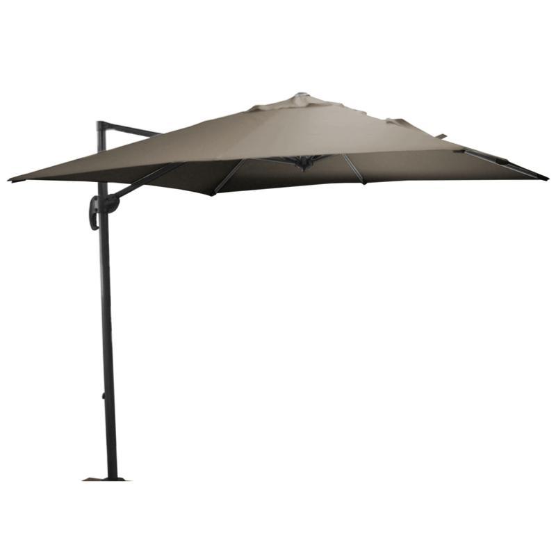 parasol roma 250x250 grey taupe. Black Bedroom Furniture Sets. Home Design Ideas