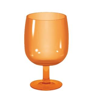 VERRE A PIED STACKY ORANGE EMPLIABLE