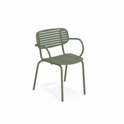 Fauteuil empilable MOM - Vert militaire - EMU