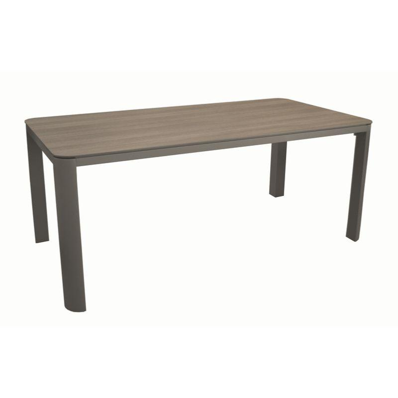 Cafe Jardin Decorative Mat: Table Eole 180 Châssis Alu époxy GREY Plateau Trespa